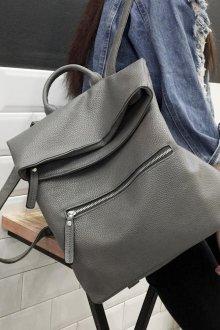 Серый рюкзак мягкий