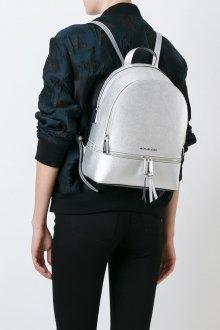 Серый рюкзак под серебро