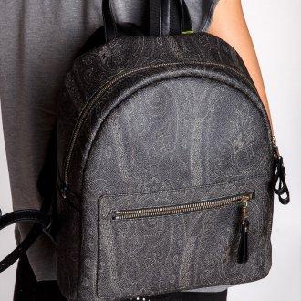 Серый рюкзак с узором