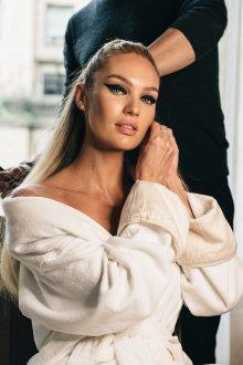 Кэндис Свейнпол макияж