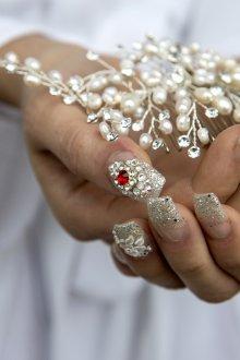 Свадебный маникюр 2019 на нарощенные ногти