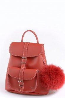 Красный рюкзак с брелком