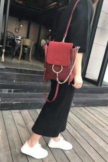 Красный рюкзак Celine