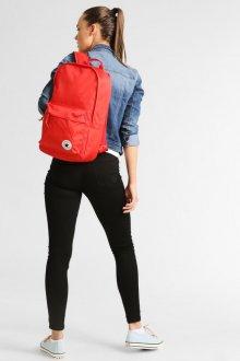 Красный рюкзак холщевый