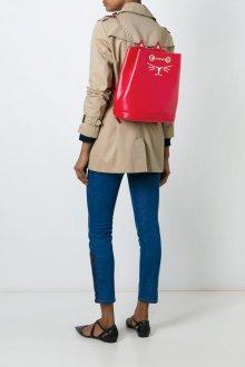 Красный рюкзак с котом
