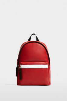 Красный рюкзак кожаный