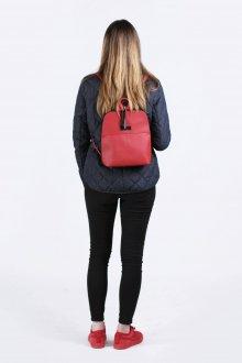 Красный рюкзак из натуральной кожи