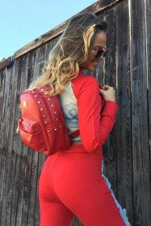 Красный рюкзак небольшой