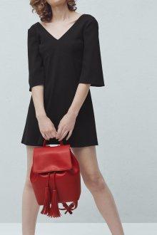 Красный рюкзак однотонный