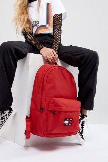 Красный рюкзак текстильный
