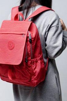 Красный рюкзак тканевый