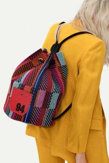 Красный рюкзак трикотажный