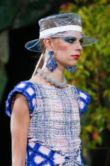 Синий макияж Chanel