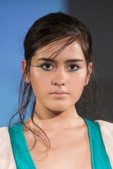 Синий макияж для нижних век