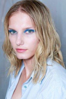 Синий макияж повседневный