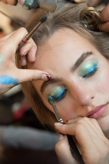 Сине-зеленый макияж