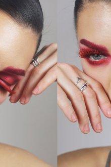 Красный макияж ресниц