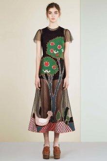 Valentino red платье с аппликацией
