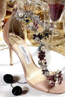 Туфли с декором джимми чу