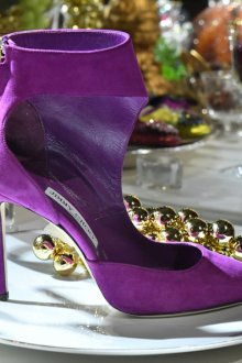 Фиолетовые туфли джимми чу