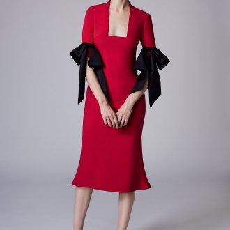 Коктейльное платье 2020 с бантиками