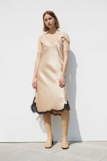 Коктейльное платье 2020 бежевое