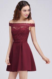 Коктейльное платье 2020 бордовое