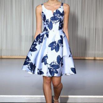Коктейльное платье 2020 с принтом