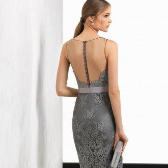 Коктейльное платье 2020 серое