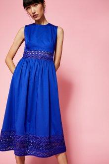 Коктейльное платье 2020 синее