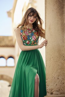 Коктейльное платье 2020 зеленое
