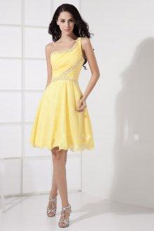 Коктейльное платье 2020 желтое
