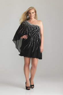 Вечернее платье для полных асимметричное