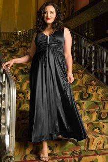 Вечернее платье для полных атласное