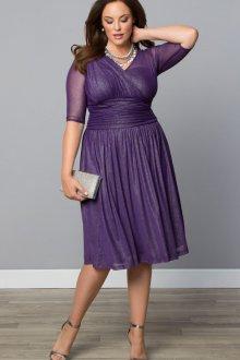 Вечернее платье для полных фиолетовое