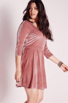 Вечернее платье для полных розовое