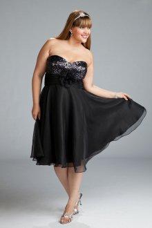 Вечернее платье для полных шифоновое
