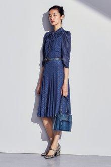 Платье зима 2018 с узором