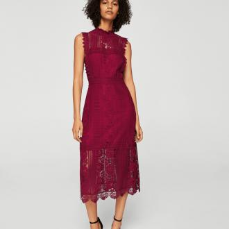 Платье для женщины 40 лет бордовое