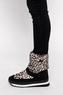 Дутики женские под леопарда