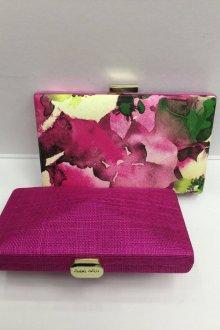 Вечерний клатч фиолетовый