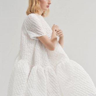 Платье оверсайз белое