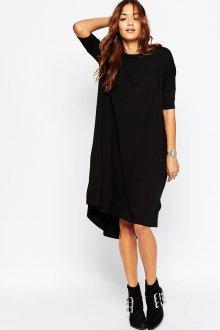 Платье оверсайз черное