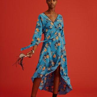 Платье оверсайз голубое