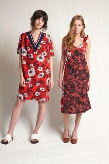 Платье оверсайз красное