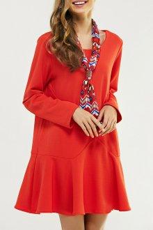 Платье оверсайз оранжевое