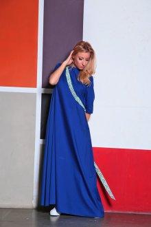 Платье оверсайз синее