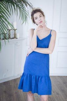 Платье оверсайз с воланами
