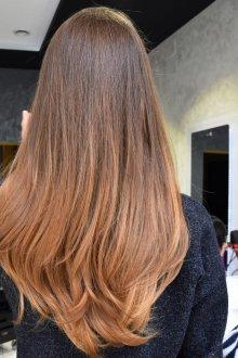 Омбре 2019 на темные волосы