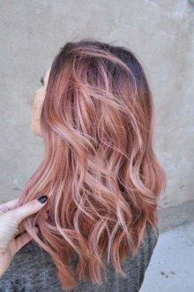 Мелирование 2019 розовый блонд